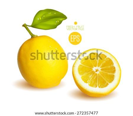 lemons  cut in half citrus