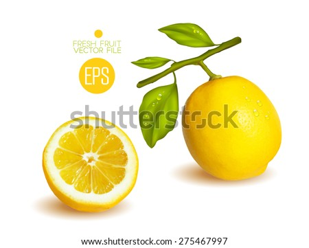 lemons  cut in half citrus