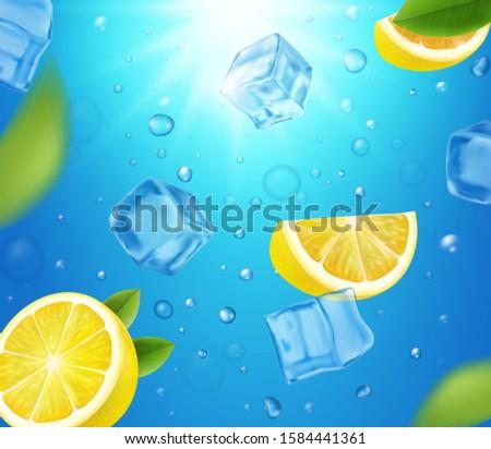 lemons  ice cubes and sun shine