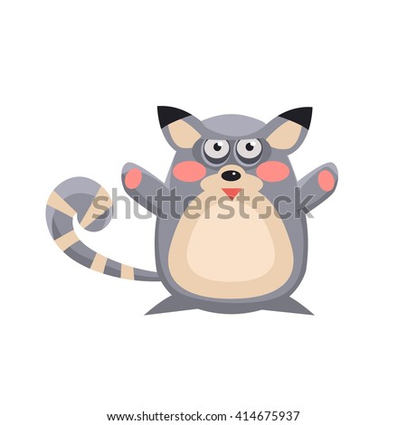 lemur funny childish cartoon