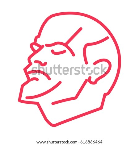 lenin vector line illustration