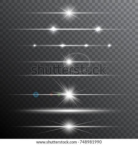 Lens flare effects. Transparent light effects. Vector illustration