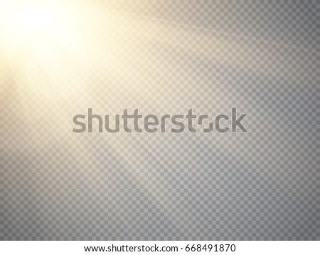 lens flare light effect sun