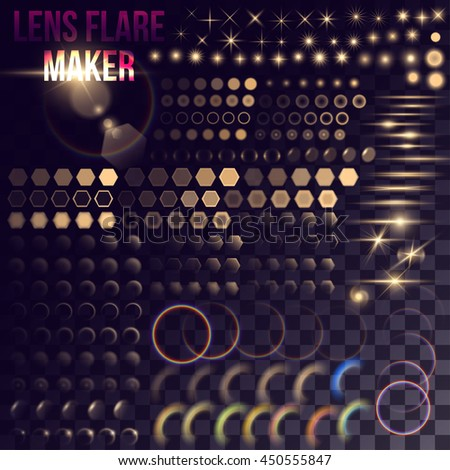 lens flare maker   big set of