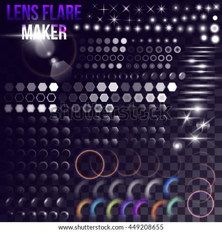 lens flare maker   big set of