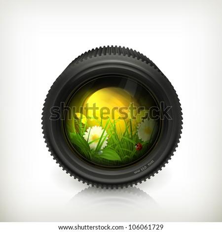lens  vector icon