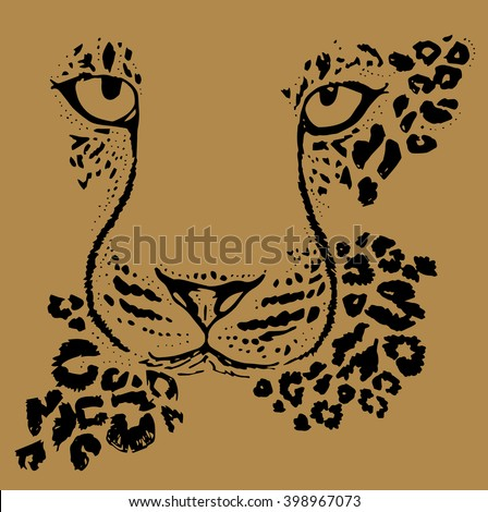leopard face graphic