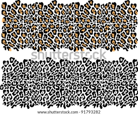 leopard fur vector