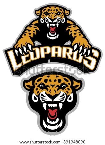 leopard mascot set