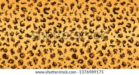 Leopard pattern design, Animal design. Brown, orange, yellow. #1376989175