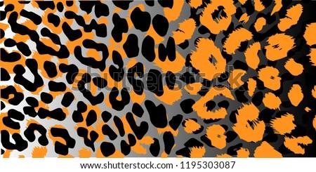 Leopard pattern design, vector illustration background.