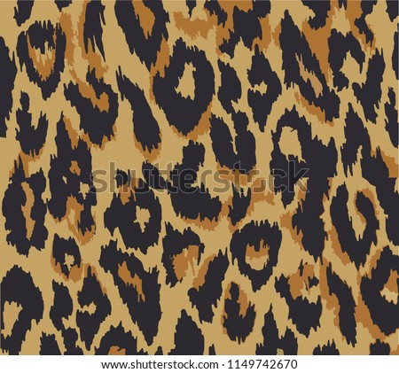 Leopard pattern design, vector illustration background. Animal design. Brown, orange, yellow