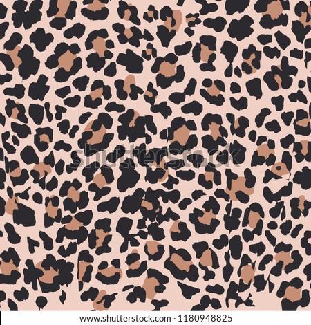 Leopard pattern design, vector illustration background. Animal design. Brown, orange, yellow, red, black