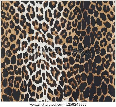 leopard print design vector