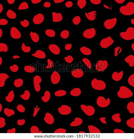 Leopard print for t-shirts, seamless vector pattern of Leopard prints for background, textiles. Foto stock ©