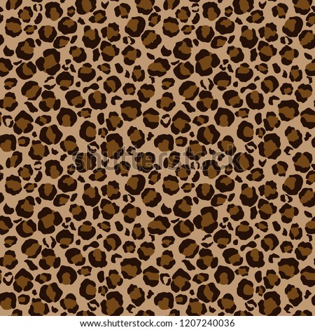 Leopard Print Seamless Pattern - Leopard print design in brown and tan colors