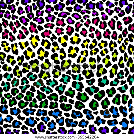rainbow leopard wallpaper border