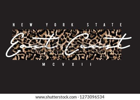 Leopard slogan graphic