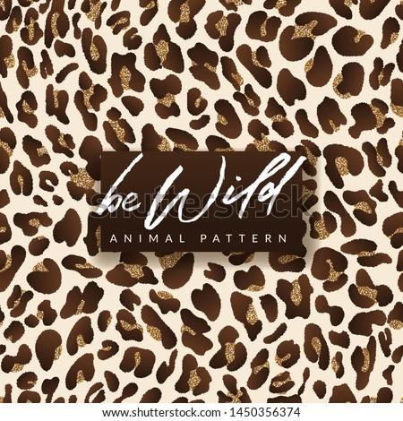 leopard vector golden seamless