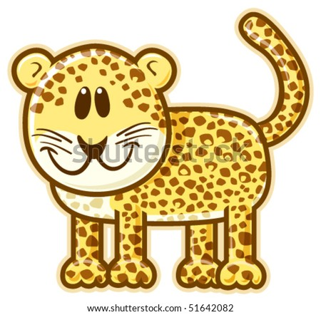 Leopard. Vector without gradients, great for printing.