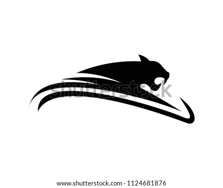 leopards,Puma, panther, and tiger action silhouette. good use for symbol, logo, web icon, mascot, sign, sticker