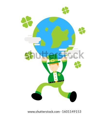 leprechaun and world clover