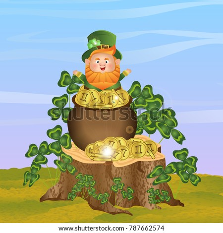 leprechaun in a green hat and