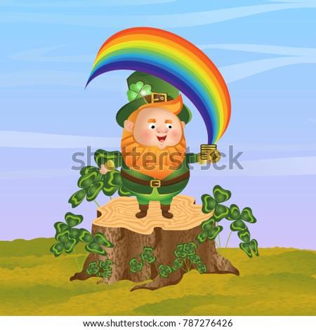 leprechaun in a green hat