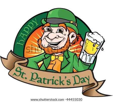 Leprechaun with beer.