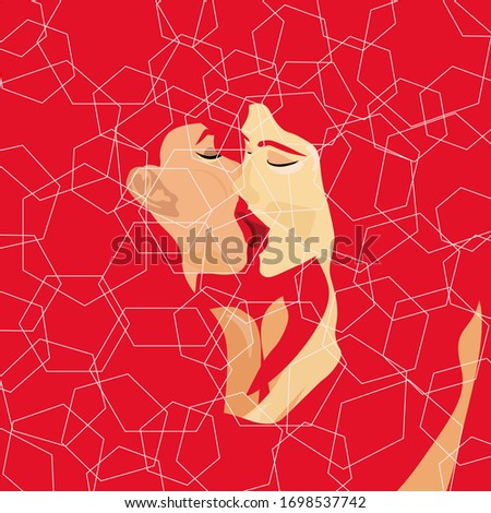 lesbian couple on a red