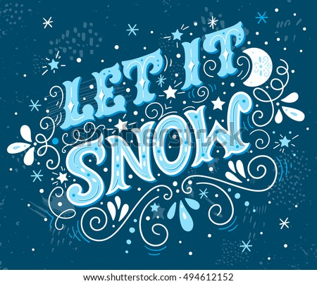 let it snow christmas retro
