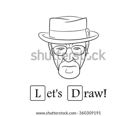 Let's draw.Vector illustration. EPS 10. No transparency. No gradients.