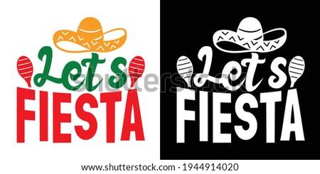 Let's Fiesta Printable Vector Illustration Foto stock ©