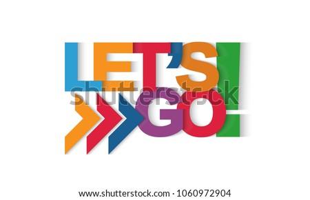 Let's go vector letters Foto stock ©