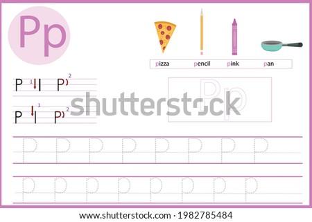Let's learn the letter P Stock fotó ©