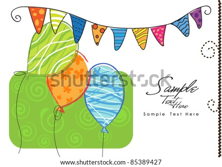 Let's Party! - stock vector