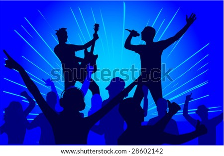 Let's Party - blue background