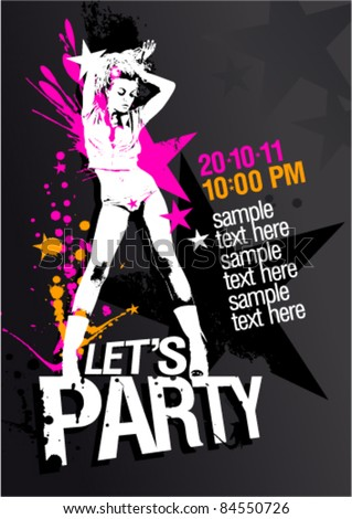 let s party design template