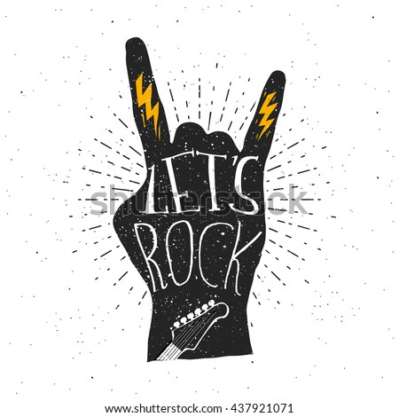 let's rock typography quote