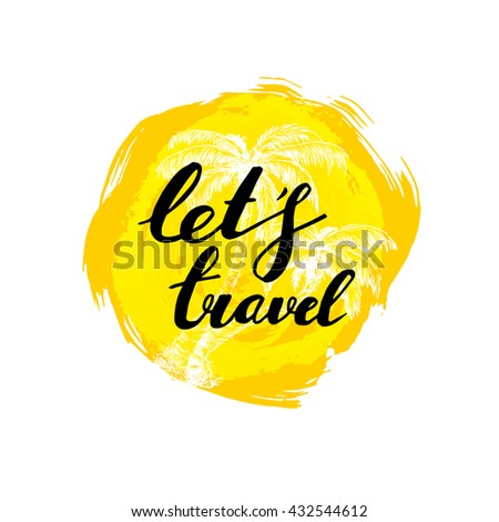 let's travel hand written