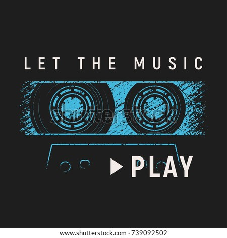 let the music play t shirt and