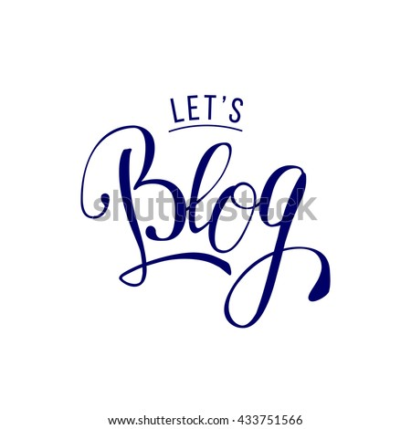 lets blog lettering quote