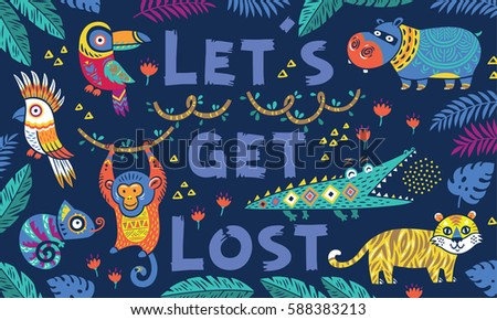 lets get lost vector tropical