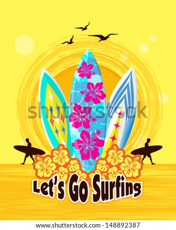 lets go surfing surfing Surfer on a beach