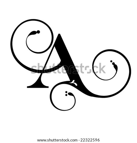 letter a. stock vector : Letter A