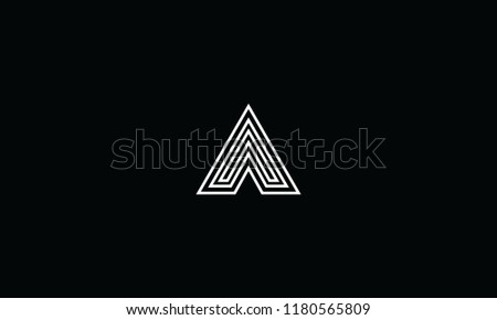 letter A abstract creative design for logo. Professional initial typography, lettering icon for branding Stock fotó ©