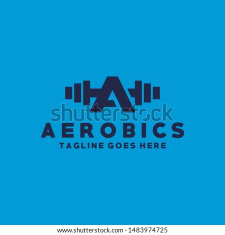 Letter A For Aerobics Logo Vector Design Template. Fitness and Wellness Icon. Growth And Muscle Color Symbol.