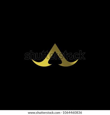 letter a gold design