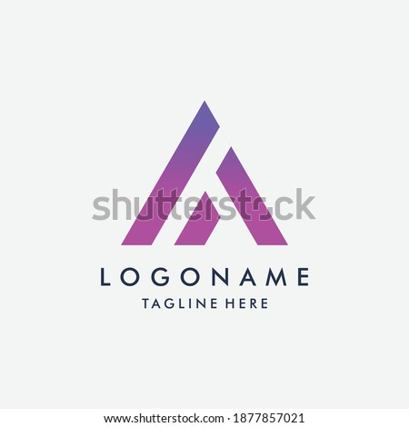 Letter A line logo design. Linear creative minimal monochrome monogram symbol. Universal elegant vector sign design. Premium business logotype. Graphic alphabet symbol for corporate business identity Photo stock ©