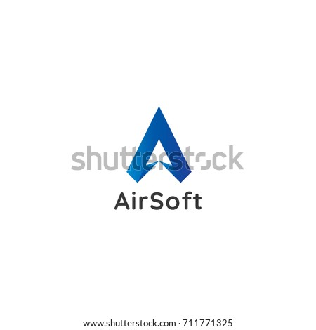 letter A logo. air star flow flight arrow icon. minimal design concept. creative apps vector illustration.